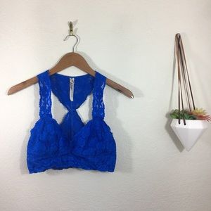 Intimately Free People blue lace bralette